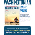 Latest Award: Washingtonian 2016 Top Producing Real Estate Agent Team